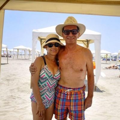 Rochy y Alberto  Aito en Costa del Sol.