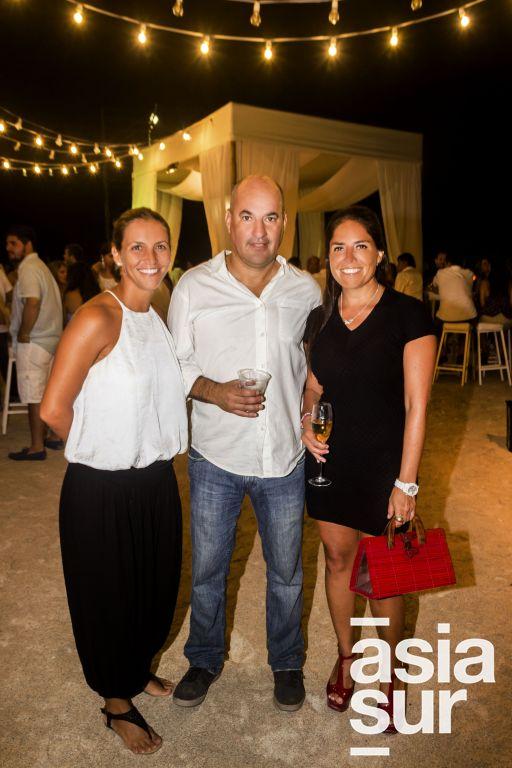 Sabrina Garcia, Claudia Ugaz y Jorge Roldán.