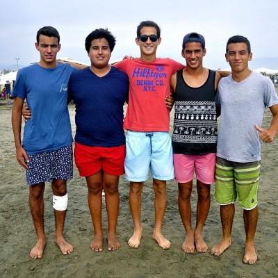 Sergio Barrios, Santiago González, Nicolás Leey, Emilio Saba y Nicholas Patzel en Cayma.