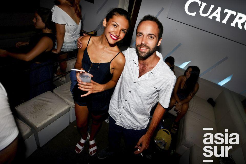 Tania Sarria y Stefano Maza en Resident, Punta Negra.