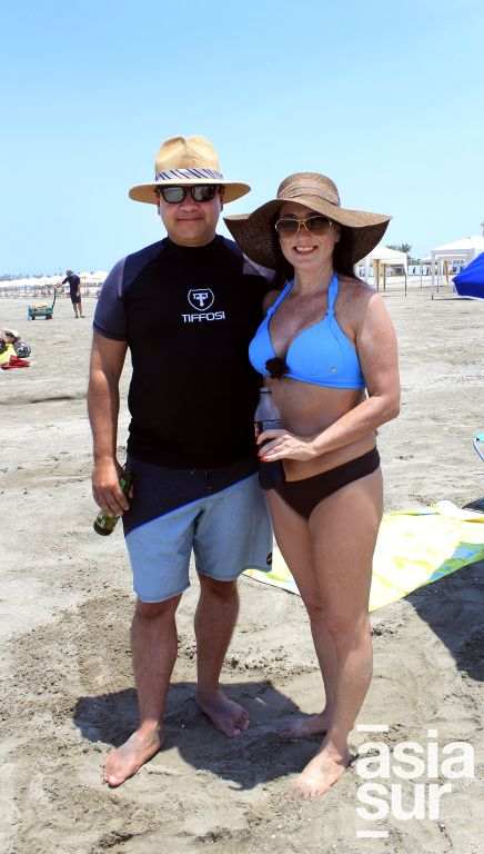 Aldo Certoli y Tatiana Miro Quesada en Playa del Golf.