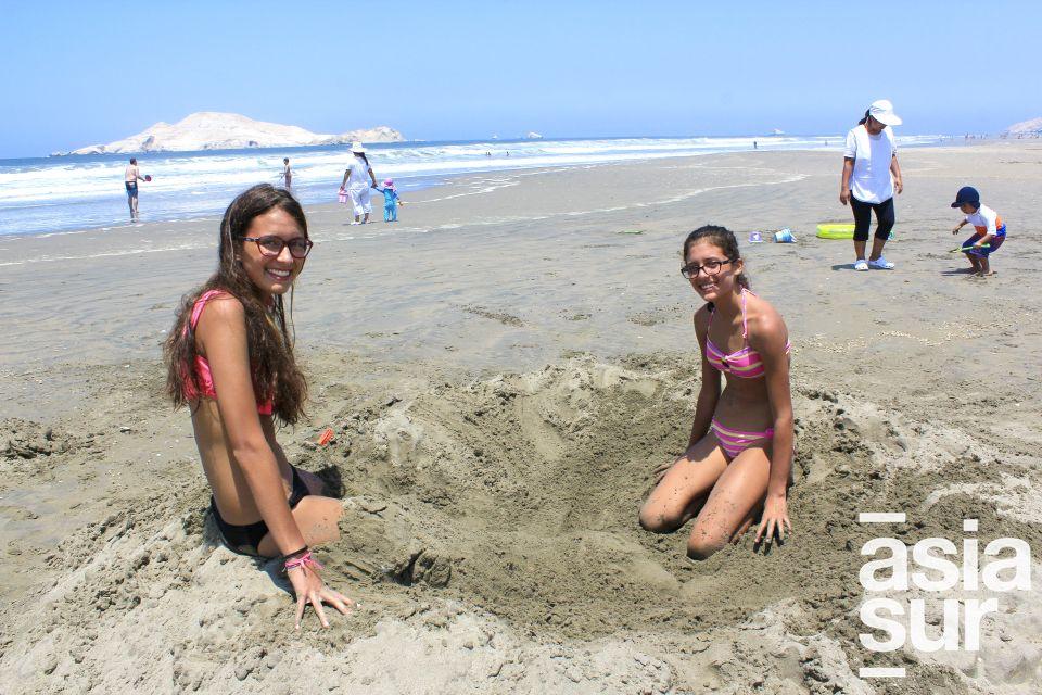 Alesia Borgo y Mariana Jeicos en Playa del Golf.
