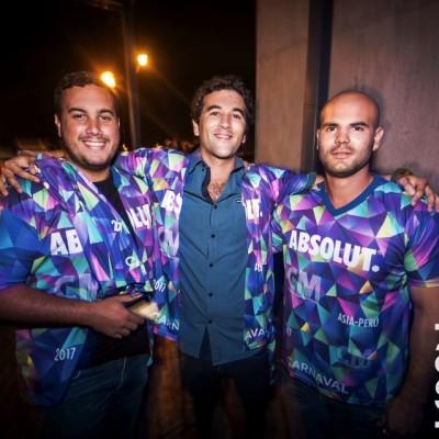 Andres Payet, Fernando Veran y Remo Romero.
