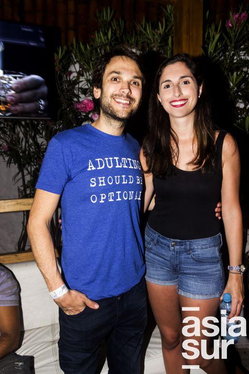 Beto Fassioli y Luciana Jimenez.