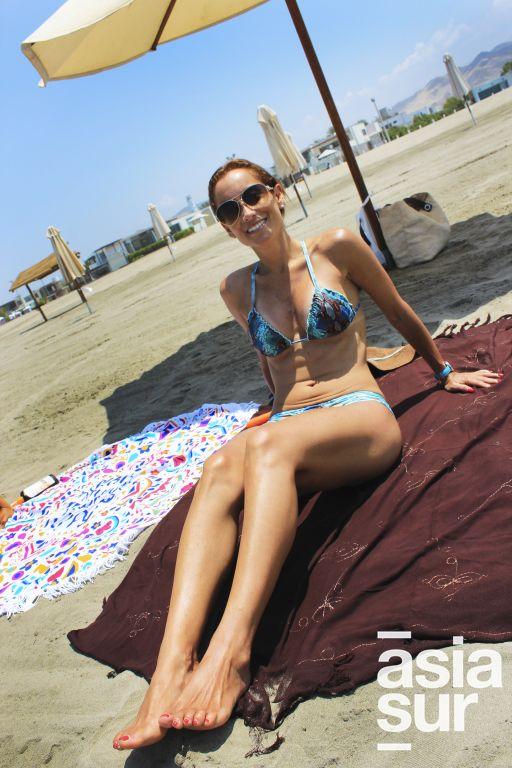 Carla Bocanegra en Playa del Golf.