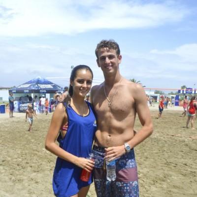 Carolina Flores Araoz y Diego Olano.
