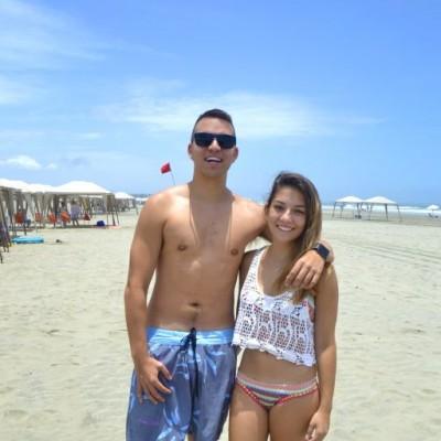 César Atala y Alejandra Dias Rodriguez en Playa Blanca.