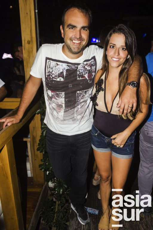 Chino Ruiz y Daniela Olcese.