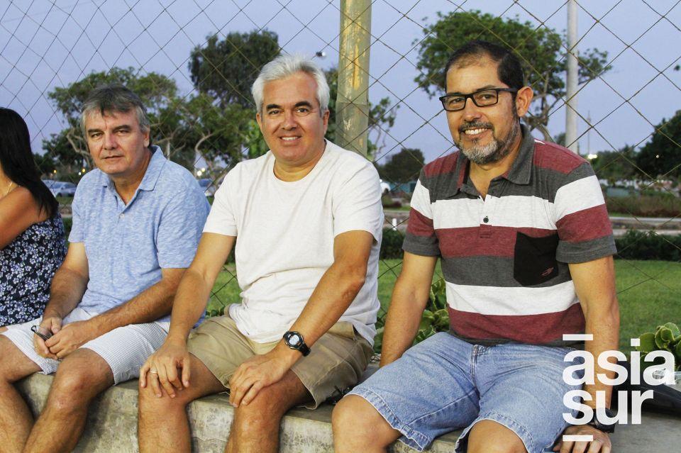 Cristian Contreras, Hernán Vergani y Eduardo Serpa.