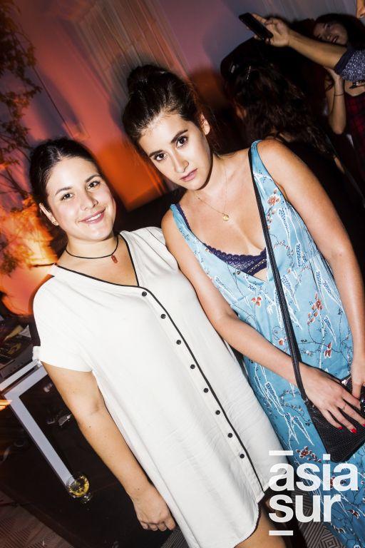 Daniela Rodriguez Araoz y Samia Franco en la presentación de los proyectos musicales en el MATE, Barranco.