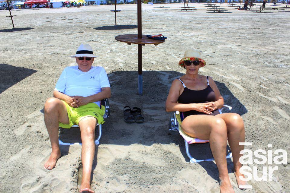 Elena Y Walter Gonzales en Playa del Sol.