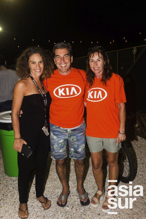 Ericka Muente, Luigi Paino y Ana Maria Paino.
