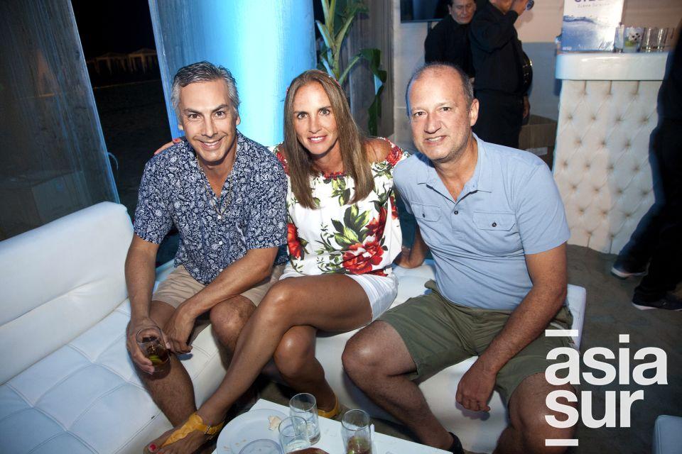 Francisco Vasquez, Marilyn Cauvo y Roberto Cauvi.