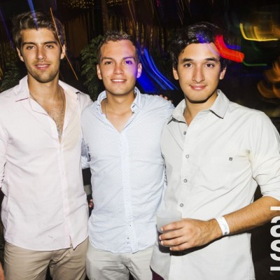 Gianfranco Zanelli, Kurt Neumann y Mauricio Perochena en Joia, Boulevard de Asia.