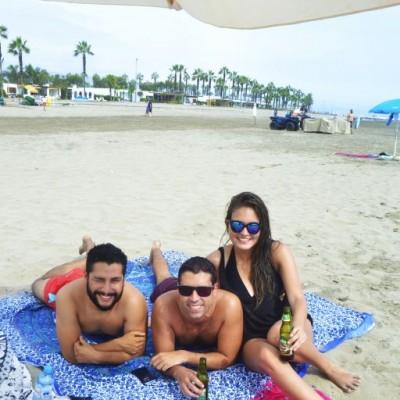 Guillermo Teran, Gianmarco Fernandini y Lucia Rivera en Cayma.