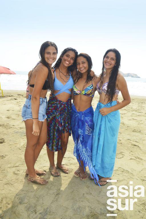 Isabella Aservi, Alejandra Garcia, Daniela Balta y Romina Ames en Flamencos.