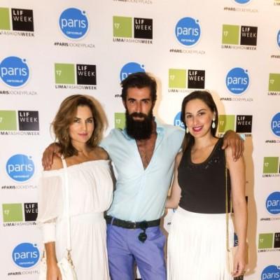 Jessica Vasquez, Sergio Bardón y Vanessa Gargurevich.