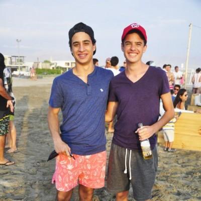 Juan Francisco Mariani y Sergio Castro en Cocos.