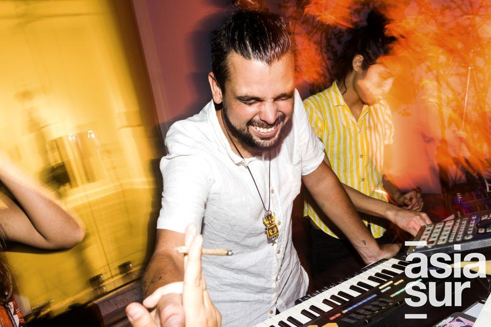 Juñio Lugon en la presentación de los proyectos musicales en el MATE, Barranco.