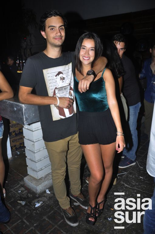 Lucas Larrea y Andrea León.