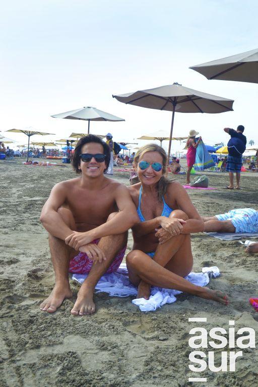 Luis Felipe y Silvana Fonseca en Cocos.