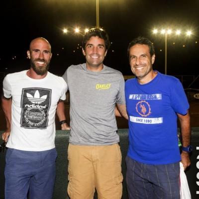 Luis Horna, Alfredo Valverde y Manuel Noriega.