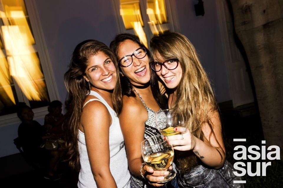 Mariana Cossio, Andrea Salazar y Alexandra Tejeda en la presentación de los proyectos musicales en el MATE, Barranco.