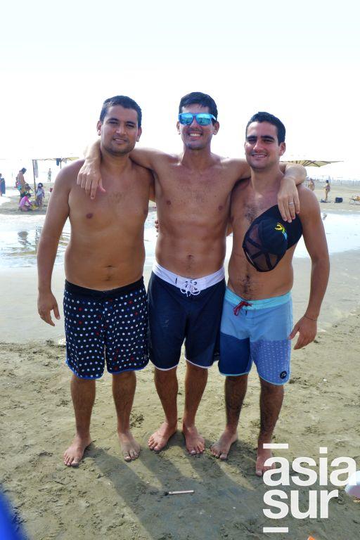 Mauricio, Luis Marcelo y Martin Indacochea en Palmas.