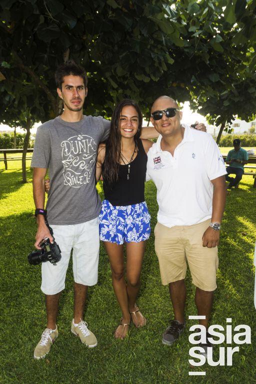 Miguel Castro Tejada, Micaela Pereira y Pepe Pereira-Roy.