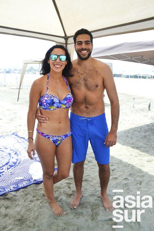 Mildred Salazar y Alejandro Tirado en Playa Blanca.