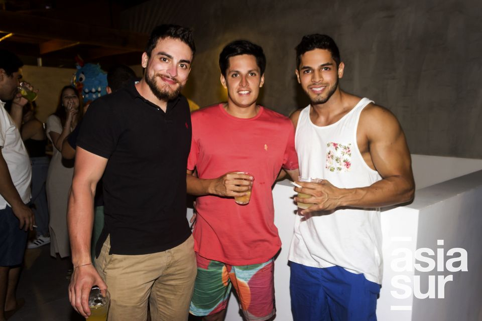 Momtaser Abou Zahr, Richard Barrantes y Cesar Silva.