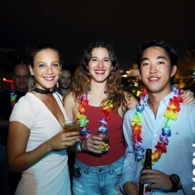 Nadia Koladesky, Nicola Flores Forsyth y Chino Shigncmura.