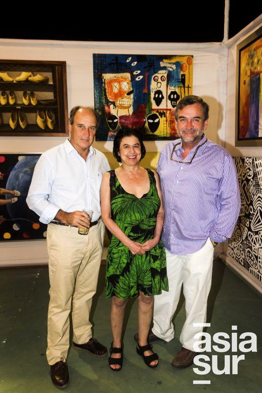Oscar Lust, Maria Cecilia Piazza y Aurelio Gambilazio.