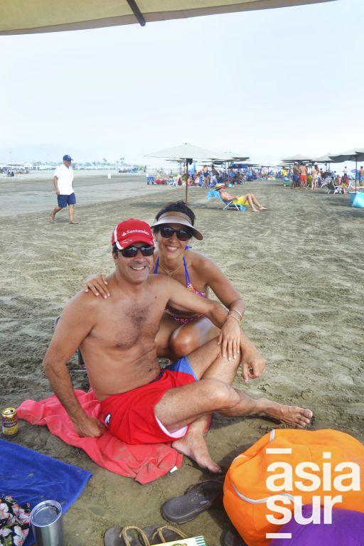 Oscar Ponce y Rose Iraola en Palmas.