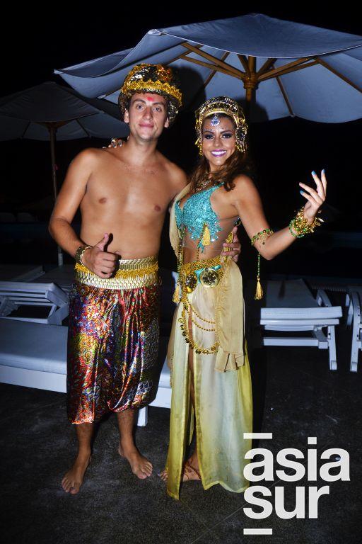 Oscar Villalobos y Nicole Parra del Riego.