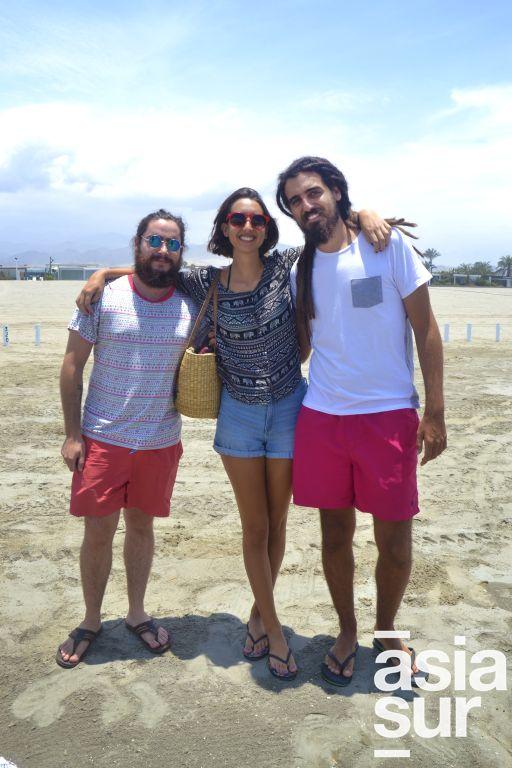 Paulo Sambuceti, Nicole Copello y Javier Krateil en Playa del Sol.