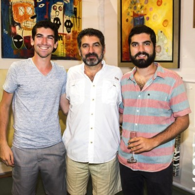 Rafael, Ivo y Andres Pecar.