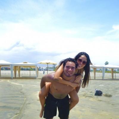 Rodrigo Rivadeneyra y Daniela Malaga en Playa Blanca
