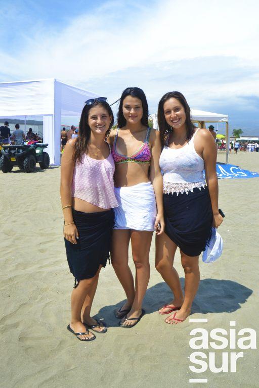 Sol Torres, Brigitte Camet y Lucia Duany en Playa el Sol.
