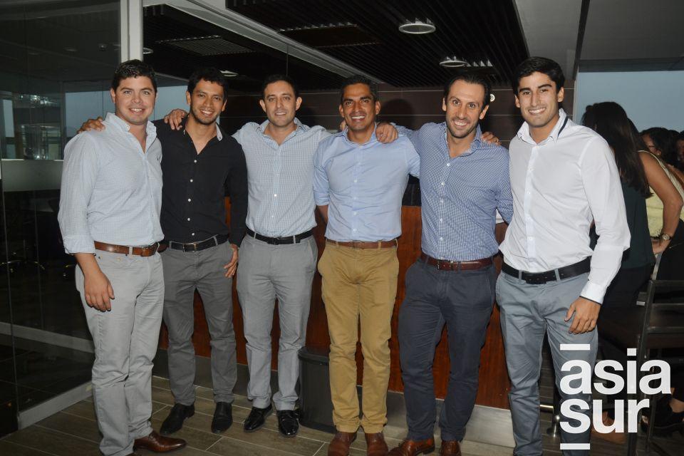 Alfonso Vigil, Alfredo Escalante, Jorge Ruiz, Ricardo Cortez, Martín Bedoya y Gonzalo Arbulu.