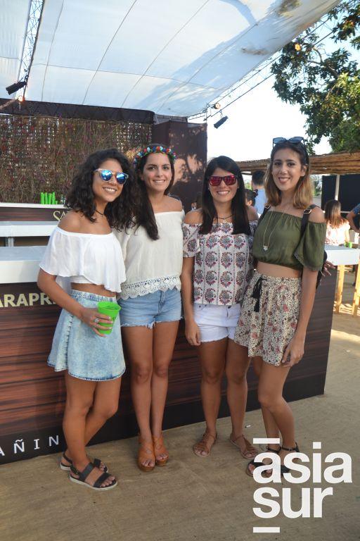 Ana Paye Cussianovich, Maria Jose Varillas, Claudette Gonzalez y Chiara Garrido.