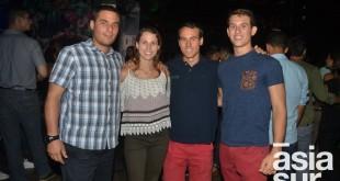 Augusto Nicolini, Cristina Arribas, Javier Arribas y Santiago Harten.