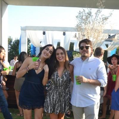 Camille Mitre, Camila Boero y Paolo Vilchez.