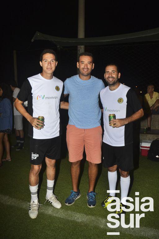Carlos Lopez, Walter Veliz y Jean Pierre Moreno.