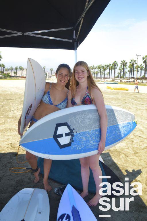Claudia Moreno y Katherina Mulanovich en Palmas.