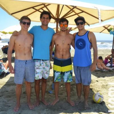Derek Fry, Ignacio Villasana, Joaquin Uranga y Gabriel Aspillaga en Palmas.