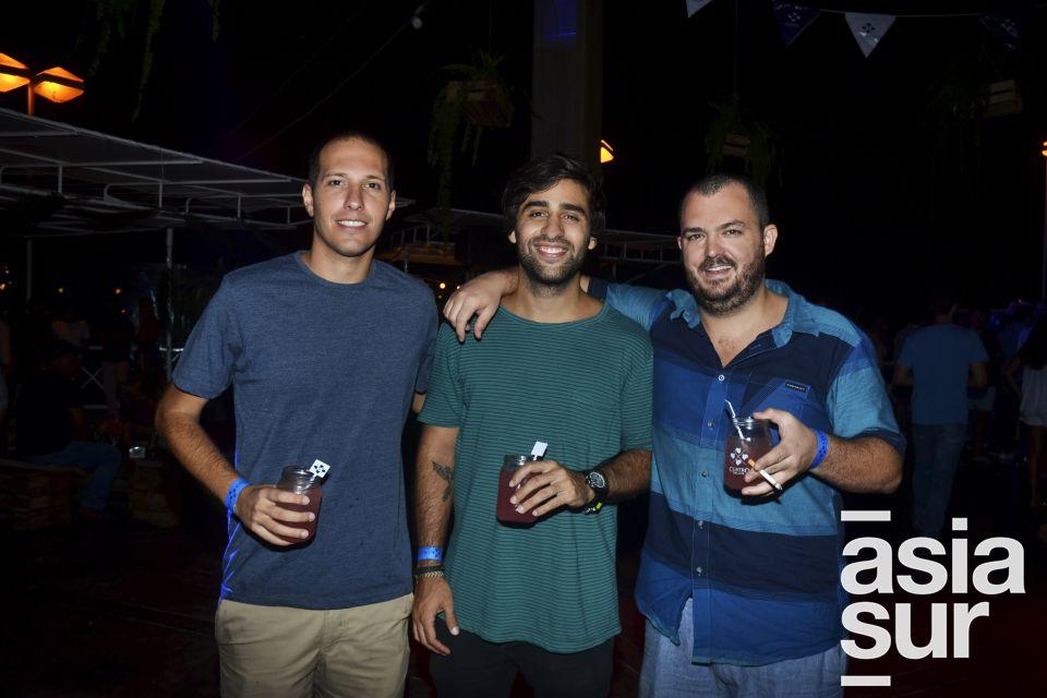 Ennio Pinasco, Daniel Villaran y Gonzalo León.