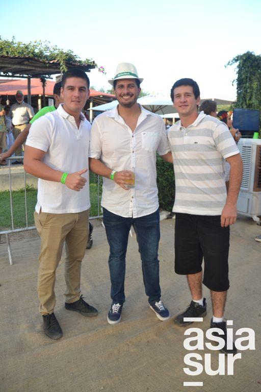 Ernesto Vasquez, Alejandro Pizarro y Alvaro Infante.