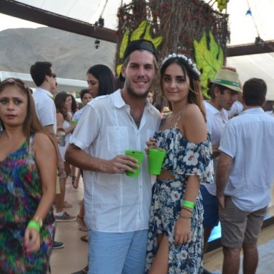 Esteban Loret de Mola y Josefina Zavala.