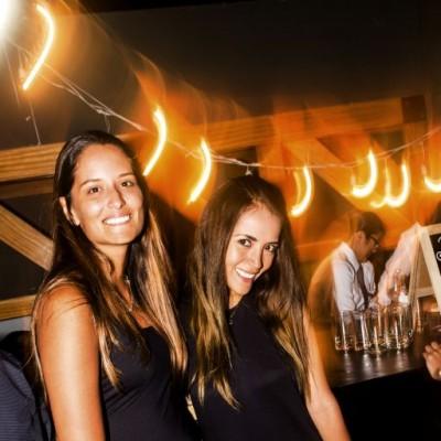 Flavia Silva y Karen Mostajo en el After Office de la marca Keralia y Kiya en el Sonesta.